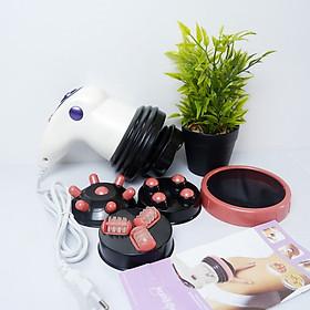 Máy Massage Cầm Tay hỗ trợ giảm mỡ Toàn Thân - Tặng Kèm Cọ Trang Điểm