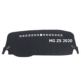 Thảm da Taplo vân Carbon Cao cấp dành cho xe MG ZS 2020 có khắc chữ MG ZS và cắt bằng máy lazer