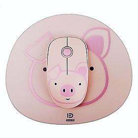Chuột không dây siêu dễ thương theo phong cách hoạt hình ABS FD E680 (Tặng Kèm Pad Hình Theo Hình Chuột) MÀU HỒNG- HÀNG CHÍNH HÃNG