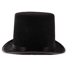 Black Tall Black Top Hat Victorian Steampunk Magician Ringmaster Cosplay