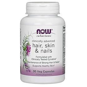 Thực Phẩm Bảo Vệ Sức Khỏe Bổ Sung Vitamin, Khoàng Chất và Thảo Dược Giúp Hỗ Trợ Làm Đẹp Da, Móng và Tóc NOW - HAIR, SKIN & NAILS (90 Viên)