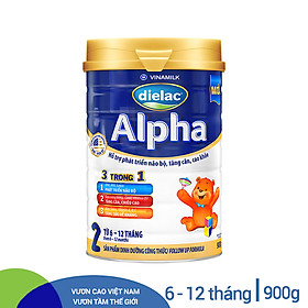 Sữa Bột Vinamilk Dielac Alpha 2 - Hộp Thiếc 900g
