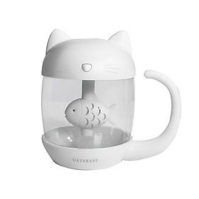Tạo Ẩm Con Mèo thích Con Cá Kết nối cổng USB , kết nối Đèn và Quạt 3 in 1 có thể dùng làm đèn ngủ