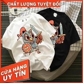In hìnhChiến Binh Cú Mèo - Áo thun Cotton nam, nữ tay ngắn, cổ tròn