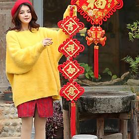 Hình đại diện sản phẩm Cặp Dây Treo Trang Trí Ngày Tết Ke Liying - 25*120cm