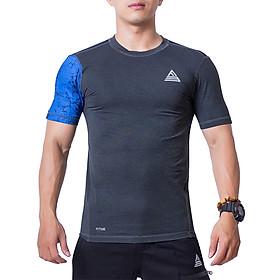 Áo Tập Gym Nam Fitme Slimfit Extreme Tay Ngắn - FAGMSLEN-XN (xám-navy)