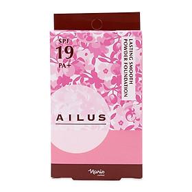 Phấn nền mỏng mịn lâu trôi Ailus Lasting Smooth Powder Nhật Bản 10g (#140 Trắng hồng) + Móc khóa-3