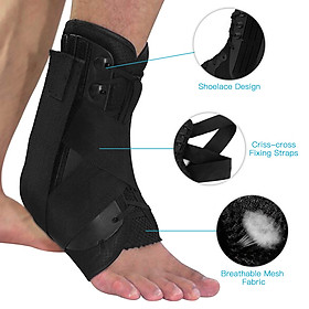 Ankle Stabilizer Brace Support Sports Safety Stirrup Compression Strap for Ankle Sprains Injuries Strains-5