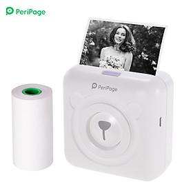 Máy in nhiệt bỏ túi PeriPage hỗ trợ in ảnh, tài liệu, ghi chú qua Bluetooth hoặc cổng kết nối cáp USB