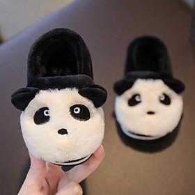 Giày bông mùa đông ấm áp đôi chân cho bé trai hình gấu trúc xinh xắn-0