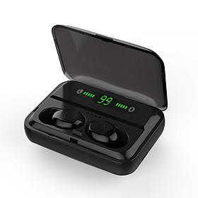 F9 Bluetooth 5.0 True Wireless Bluetooth Earphones TWS Earbuds with Digital Display Stereo Music Headphones IPX7