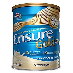 Sữa Bột Abbott Ensure Gold Hương Vani Ít Ngọt 850g