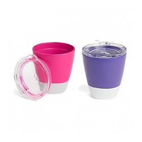 Bộ 2 cốc có nắp Munchkin (hồng-tím)