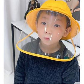 Nón vải có kính chắn bụi chắn gió hỗ trợ phòng dịch người lớn và trẻ em