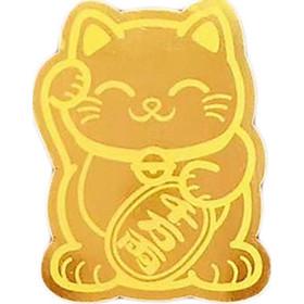 Miếng dán điện thoại vàng 24K Mèo Chiêu Tài - ANCARAT