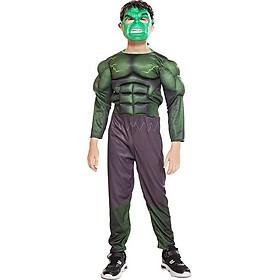 Trang Phục Hóa Trang Halloween Người Khổng Lồ Xanh Hulk Dành Cho Trẻ Em Kèm Mặt Nạ