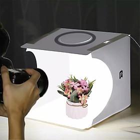 Hộp studio mini chụp sản phẩm tích hợp đèn Led vòng 64 bóng và 6 phông nền- Hàng nhập khẩu
