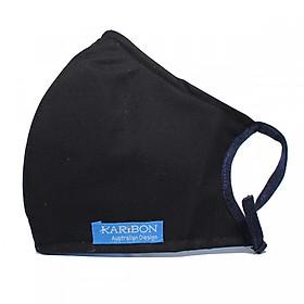 Khẩu trang Karibon Cotton lọc bụi, khử mùi màu đen