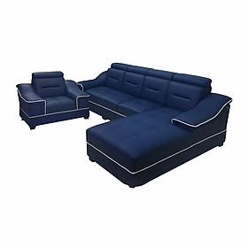 Bộ sofa góc Juno Li-Concept 310 x 180 x 75 cm + 1 ghế lẻ + 2 đôn (Đỏ) (Tặng 2 gối trang trí trị giá 300k)