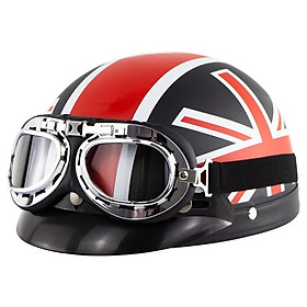 Motorcycle Electric Bike Retro Style Sunscreen Helmet Couple Half Helmet With Goggles