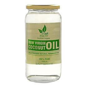 Dầu dừa tinh khiết lên men tươi lạnh Viet Healthy 1000ml - dầu dừa nguyên chất Viethealthy- tác dụng làm đẹp, chống rụng tóc, chữa các bệnh về da, viêm loét, kháng nấm, kháng khuẩn, virus.....