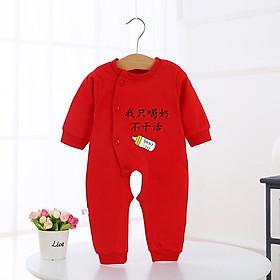 Bodysuit trung hoa đỏ cho bé