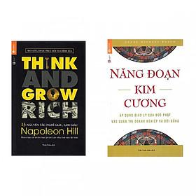 Combo Sách kinh tế hay : Năng đoạn kim cương + 13 nguyên tắc nghĩ giàu làm giàu - Combo sách là chỉ dẫn về những nguồn lực tạo thành công - Tặng kèm bookmark Happy Life