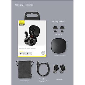 Tai nghe không dây Bluetooth Baseus TWS WM01-P in-ear chơi game thể thao nghe nhạc siêu nhỏ giảm tiếng ồn phù hợp với điện thoại di động Apple, Huawei, Xiaomi