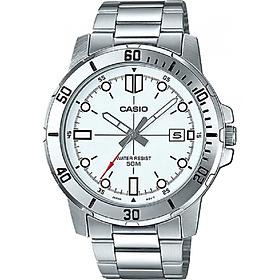 Đồng hồ nam dây thép không gỉ Casio MTP-VD01D-7EVUDF