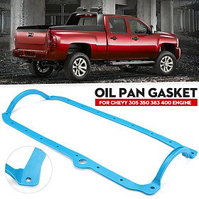 SBC 1 Piece Oil Pan Gasket Blue 86 - Up Late Fits Chevy 305 350 383 400 Engine