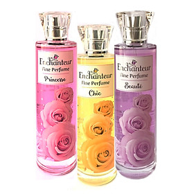 Combo 3 Chai Nước hoa toàn Thân Enchanteur Fine Perfume: Chic, Princesse, Beauté (100ml*3)