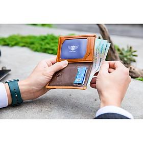 Ví Da Nam Size Nhỏ Gọn, Mini Dáng Đứng Màu Vàng Da Bò Thật, Ví Đựng Tiền, Thẻ/Thẻ ATM, Thời Trang, Phong Cách DORATINO