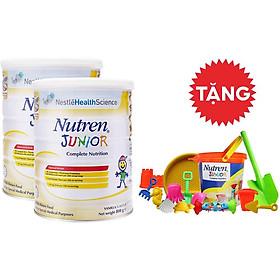 Combo 02 lon Sản phẩm dinh dưỡng y học NUTREN JUNIOR lon 800g - TẶNG Bộ đồ chơi đi biển