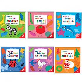 Combo 6 cuốn Cùng chơi trốn tìm 6 động vật + 7 rau củ+ 8 sinh vật biển+9 các loài chim + 10 côn trùng +11 giáng sinh (Tặng kèm bookmark AHA)