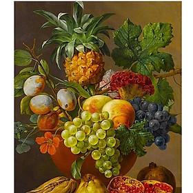 Tranh sơn dầu số hoá tự tô - tĩnh vật trái cây SDTC00015