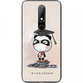 Ốp lưng dành cho Nokia 3.1 Plus mẫu Panda mọt sách