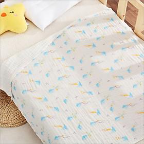 Chăn lưới chống ngạt 6 lớp gấp Seersucker Babyupp cao cấp KUTE (100 x 100 cm), có thể làm Khăn tắm cho bé, chất liệu 100% sợi bông hữu cơ an toàn