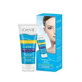 Sữa rửa mặt dưỡng da ngừa mụn Crevil Total Repair Q10 Face Wash Gel tinh chất hoa cúc chống lão hoá phục hồi tế bào da bị kích ứng, se khít lỗ chân lông, dưỡng ẩm cho da - 200ml