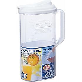Hình đại diện sản phẩm Bình đựng nước nắp ấn thông minh tiện sử dụng - Hàng nội địa Nhật