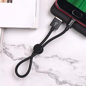 Cáp dây dù ngắn Hoco X35 Micro  2.4A dài 25cm  - Hàng chính hãng