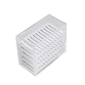 Acrylic 5 Layers Clear Eyelash Storage Box False Eyelash Holder Case Makeup Display Container Eyelash Box