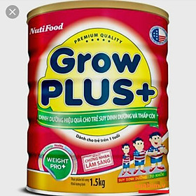 Nutifood GrowPLUS+ Đỏ 1500 Gr : sữa dành cho trẻ từ 1- 10 tuổi bị suy dinh dưỡng thấp còi