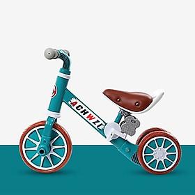 Combo Xe đạp xe thăng bằng xe chòi chân trẻ em 2 trong 1 cao cấp kèm nón bảo hiểm cùng màu cho bé 1- 6 tuổi