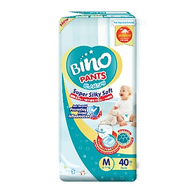 Tã quần Bino Kháng khuẩn chống hăm Size M40/L36/XL32/XXL28-0