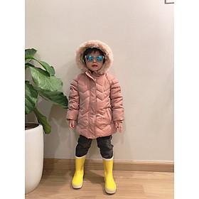 Áo khoác phao lót lông cao cấp bé gái 1-6 tuổi