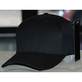 Nón Pít Đuôi Đen  Flexfit Delta Classic Fitted Cap Black