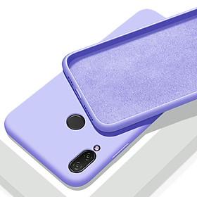 Ốp lưng cho Xiaomi Redmi Note 7 nhựa TPU dẻo màu, mặt trong vải nhung
