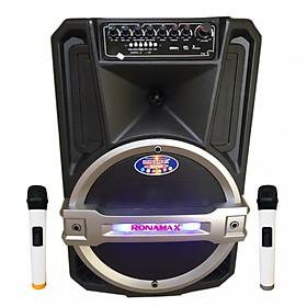 Loa kẹo kéo karaoke bluetooth Ronamax T12 - Hàng chính hãng
