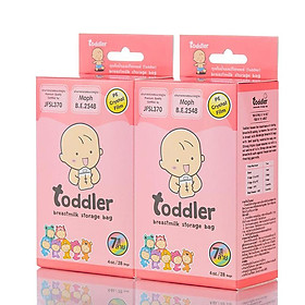 Combo 02 Hộp túi trữ sữa Toddler thailan-100ml 28 túi