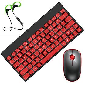 Hình đại diện sản phẩm Combo Bộ bàn phím và chuột không dây F-1500 mini siêu mỏng + Tai Nghe Bluetooth Thể Thao S6 (Màu Ngẫu Nhiên)